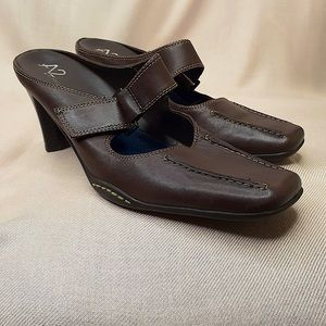 A2 by AEROSOLES Brown Square Toe Mary Janes Mules
